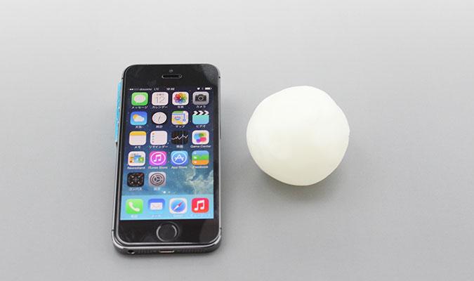 プラフレンドとiPhone 大きさを比較