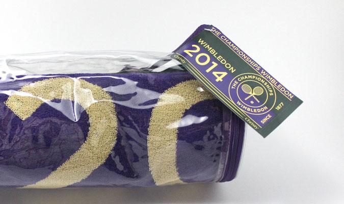 ウインブルドン2014年公式タオル、好評発売中。