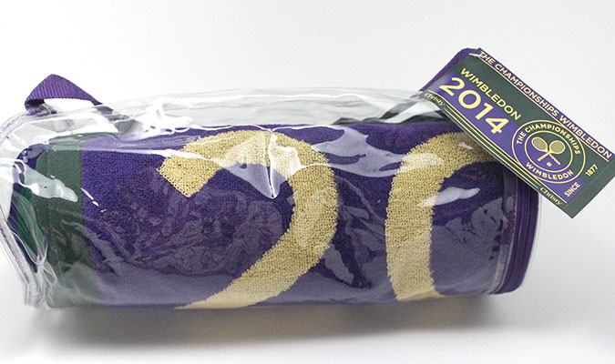 ウインブルドン2014年、公式タオルが好調です。