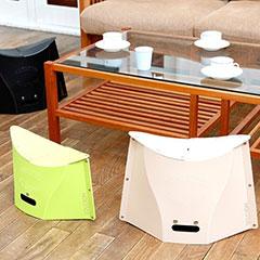 持ち運びや収納がとても便利なユニークな折りたたみ椅子「PATATTO(パタット)」