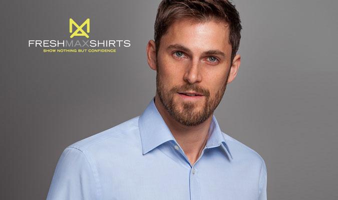 綿100%のビジネスシャツ フレッシュマックス