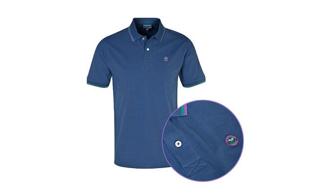 ネイビーのポロシャツが人気、ウインブルドン2014公式グッズ。