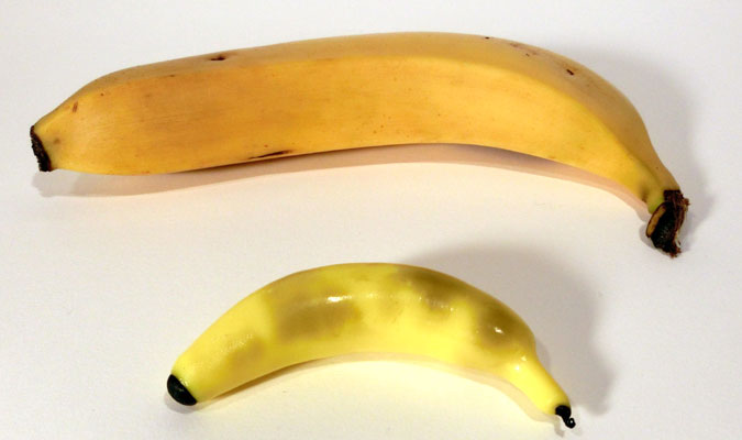 プラフレンドで作った作品「バナナ」。