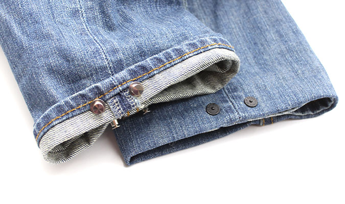 自分でできる裾直し、裾直し用ピン。