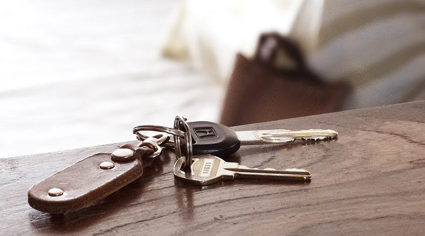 鍵の置き場所を忘れないためのアイデアグッズ。