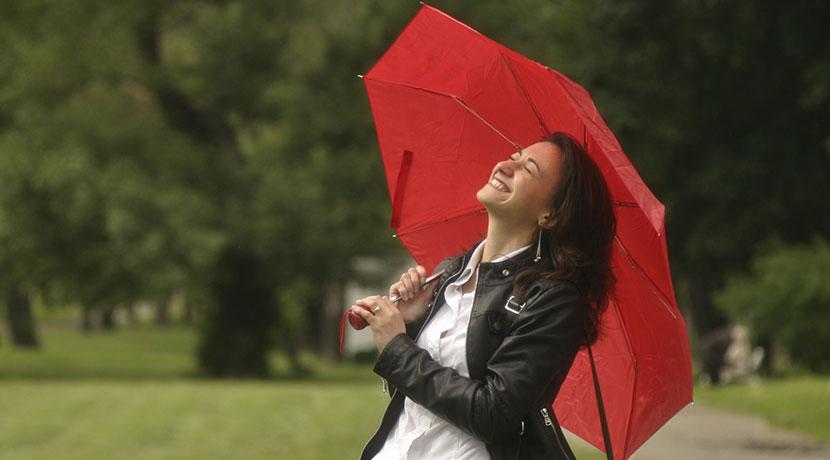 折りたたみ傘用の吸水ポーチ。