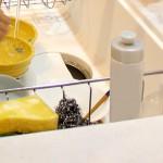 洗剤ボトルが邪魔にならない台所用スポンジ、ソーピィースポンジ