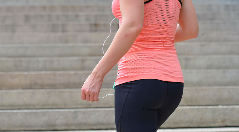 カロリーの消費量を計測してくれる活動量計、ポケットに入れておけばいつでも確認できる。