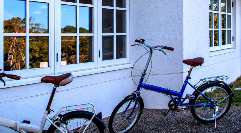 自転車用の防犯グッズ、自転車を動かすと大きな音が鳴ります。