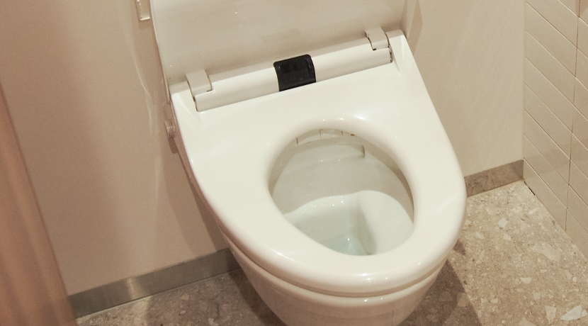 トイレの便座に付けるための取っ手、便座に直接触らずに持ち上げできるようになります。