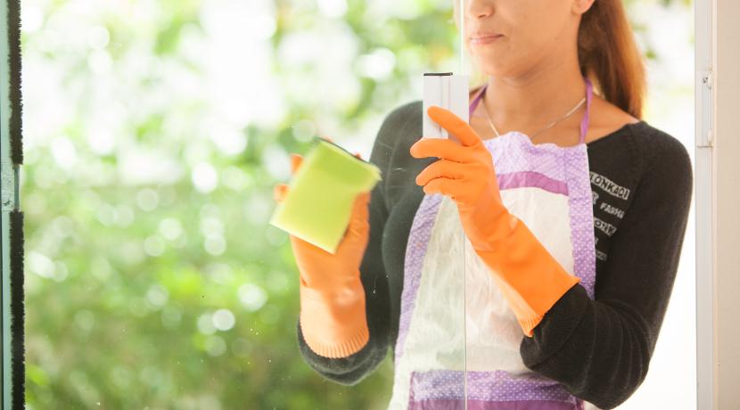 簡単に窓掃除、を実現するためのクリーナー。