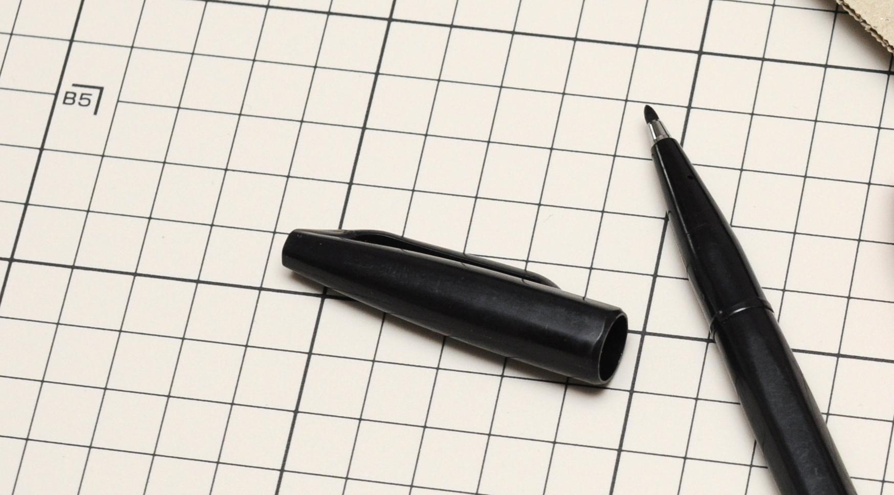 キャップを閉め忘れても大丈夫な、不思議な油性ペン。