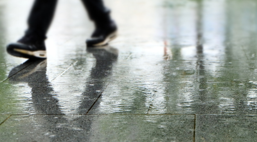 濡れた靴を素早く乾燥させる、靴用の乾燥シート。