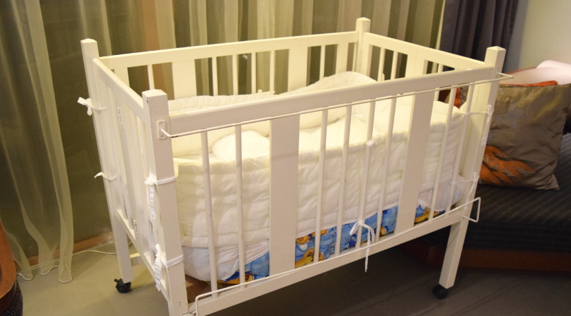 ベビーベッド用の蚊帳、蚊から赤ちゃんを守ります。