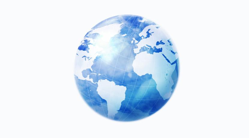 地球儀のようなスゴロク、世界の位置関係が立体的に学べます。