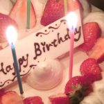 ウォールステッカー 静電気 お誕生日柄 カラー(ミドリ)